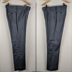 J Crew Gray Wool Slim Bedford Pant